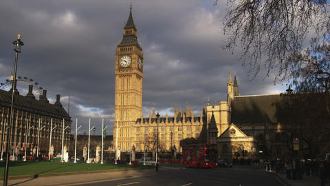 Big Ben And The Palace Of Westminster In London stock footage