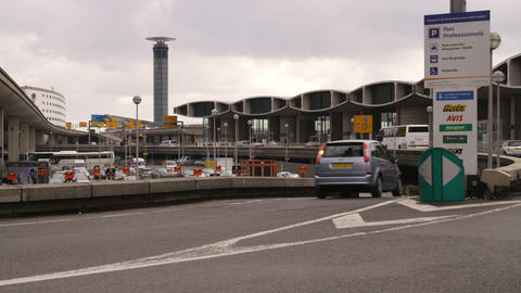 Traffic At An French Airport stock footage