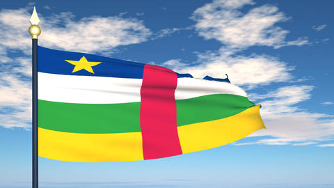Flag Of Central African stock footage
