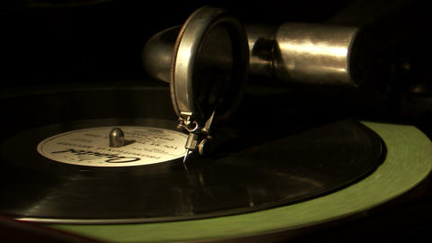 Record Needle Coming To The End Of A Record stock footage