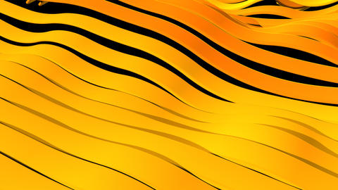 Yellow wave bands smooth motion close up background Animation