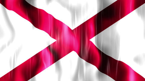 Alabama State Flag Animation stock footage