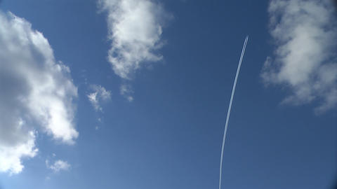 Airplane Trail stock footage