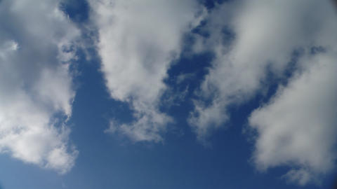 White Puffy Clouds stock footage