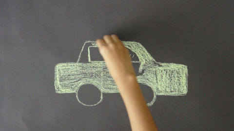 Electric Car Chalk Drawing ビデオ