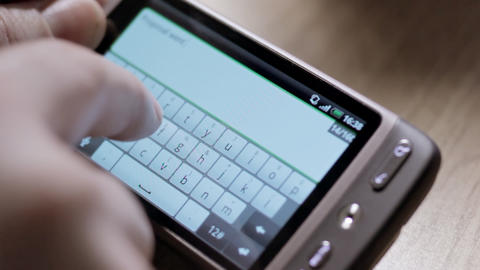 Smartphone Virtual Keyboard stock footage