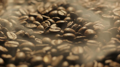 Roasting Coffee Beans Turning stock footage