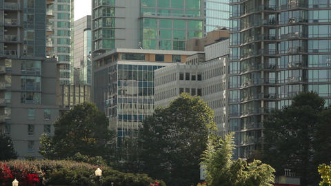 Static Shot Of Down Town Vancouver stock footage