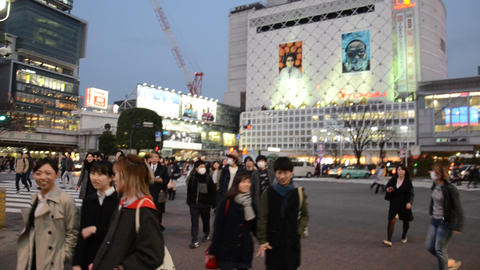 A Lot Of People In Tokyo - Shibuya stock footage
