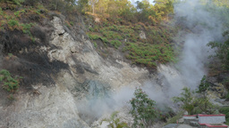 Steaming hot sulphur spring,Gedung Songo,Indonesia Footage