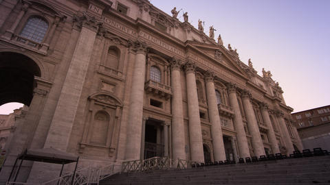 Low Angle Footage Of The Entrance To St Peter's Basilica stock footage