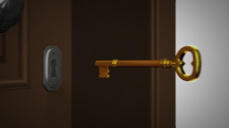 Key And Opening Door stock footage