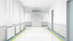 3D Walkthrough Animation Of Entering The Operating Room stock footage
