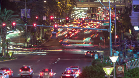 Timelapse Shot Of The Vegas Strip At Night stock footage