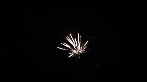 Colorful Fireworks Of Various Colors Over Night Sky stock footage