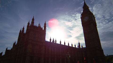 Big Ben in a sunny afternoon Footage