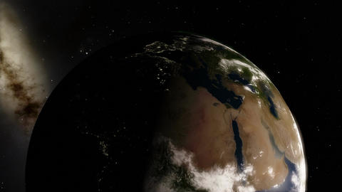 Planet Earth Timelpase Revolving Around The Sun With Night To Day Transitions stock footage