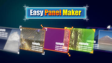 Easy Panel Maker stock footage