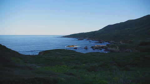 Sunrise In A Big Sur Timelapse stock footage