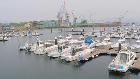 The Port Of Hakodate Yacht Harbor stock footage