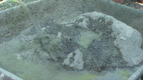 Concrete Mixes Shovel stock footage