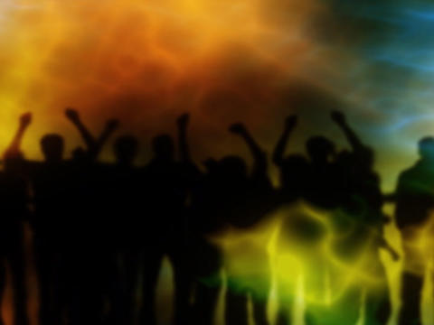 Silhouettes Party Pan stock footage