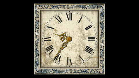 Antique Clock stock footage