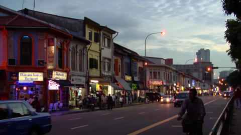 Little India Timelapse stock footage