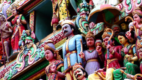 Sri Mariamman Temple CU stock footage