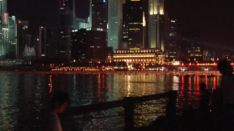 Singaporeans New Year Countdown stock footage