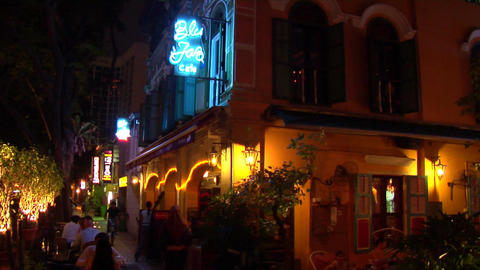 Singapore Jazz Bar stock footage