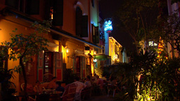 Singapore Restaurant At Kampong Glam stock footage