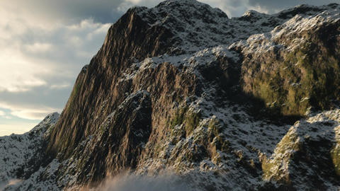 1066_Wilderness Snow Mountains Glaciers Footage