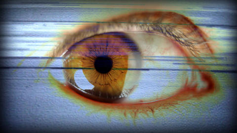 Big_eye01 stock footage
