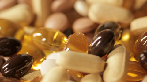 Vitamin Pills stock footage