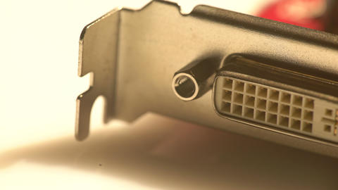 Close view of a DVI port in a graphics card Footage