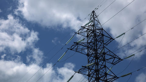 Energy Transmission Lines 03 stock footage