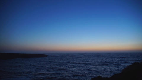 Timelapse of a majestic sunset at Spooners Cove Footage