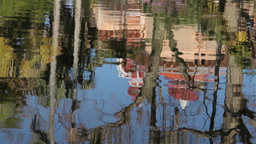 Water Reflection Of Monserrate Palace In Sintra stock footage