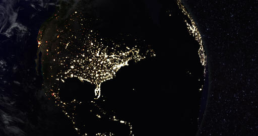 1080p Power Outage / City Blackout / Earth Globe / Earth From Space stock footage