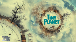 Tiny Planet Winter stock footage