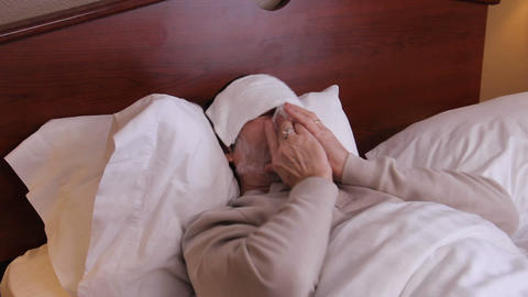 Sick In Bed Coughing stock footage