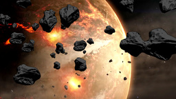 Collapse Of The Giant Asteroid stock footage