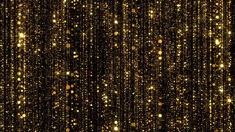 Gold Glitter Glamour Particles Rain stock footage