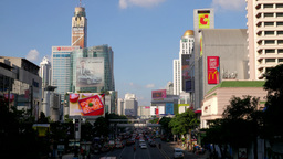 TIMELAPSE Busy road at Central World,Bangkok,Thailand Footage