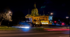 Hyperlapse of the Alberta Legislature Building in Edmonton, Alberta Footage
