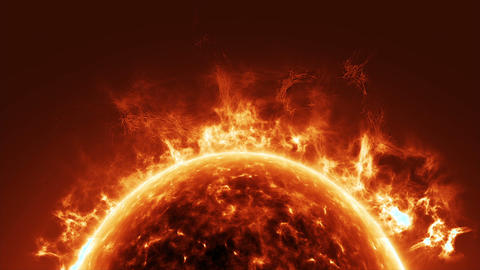 Sun Surface And Solar Flares stock footage