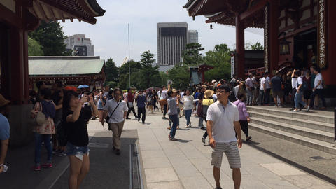 Sensoji tourists Footage