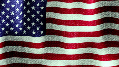 USA Flag Waving (Seamless Lopping Video, Realistic, Fabric), Full Flag stock footage