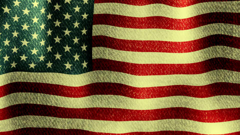 USA Flag Waving (Seamless Lopping Video, Realistic, Fabric) stock footage